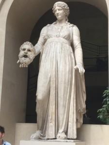 Melpomene Holding a Mask